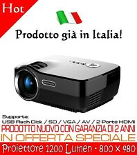 Proiettore HDMI USB VGA AV SD Home Cinema Videoproiettore Proiettore Led interno