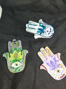 Hand Of Hamsa Candle Plates