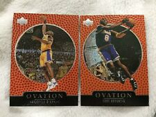 "KOBE BRYANT & SHAQUILLE ONEAL ""OVATION"" 1998 UPPER DECK LAKERS BASKETBALL CARDS"