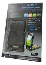 P-flip foldable Solar Power Apple iPhone 3gs/3g/4s/4 negro 2000mah batería