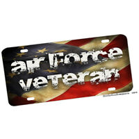 Air Force Veteran American Flag Aluminum License plate