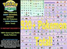 All 807 Shiny Pokemon for HOME + Sword & Shield 100% Pokedex Completion INSTANT!