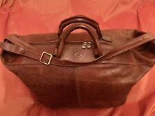 Org. The Bridge - Luxus Leder Reise Tasche  Weekender Travelbag Made in Italy