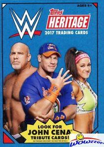 2017 Topps WWE Heritage Wrestling HUGE Factory Sealed HANGER Box-32 Cards!