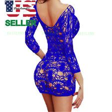 Sexy-Lingerie-Sleepwear-Women's-Babydoll-G-string-Dress-Underwear-Lace-Nightwear