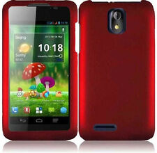 Cricket ZTE Engage LT N8000 Rubberized HARD Protector Phone Case Red accessory