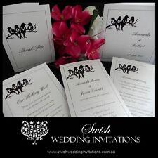 Love Birds Cute Modern Wedding Engagement Anniversary Invitation - Sample