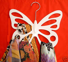 White Butterfly Scarf Holder / Hanger / Organizer holds 12 Scarves (MrSales)