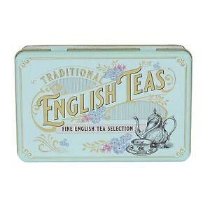 New English Teas Vintage Victorian Tea Tin with 72 teabag selection