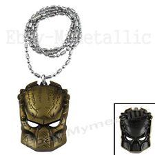 Movie AVP Alien vs Predator Predator Mask Metal Pendant Necklace 001