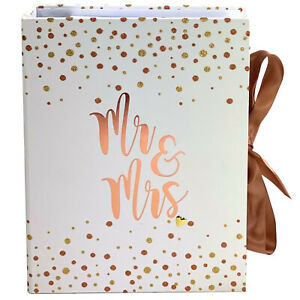 New! Rose Gold MR & MRS Wedding Planner Organiser Folder Journal Diary Book Gift