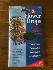 "Gardman 2 Flower Drops The Hanging Basket Bag 20"" 0.5m Deep"