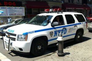 HOTWHEEL POLICE NYPD  CHEVY TAHOE HIGHWAY PATROL  KITBASH CUSTOM UNIT