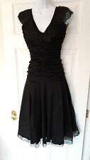 Hell Bunny Vampire Elegant Gothic Vintage Black Lace Patricia Dress M 12 New!
