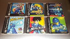 Complete Mega Man Playstation 1 Lot X4 X5 X6 8 Legends 2 ☆☆ MINT CASES ☆☆ - PS1