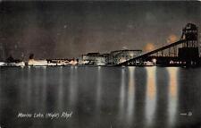 MARINE LAKE RHYL WALES UNITED KINGDOM ROLLER COASTER RIDE POSTCARD (c. 1910)