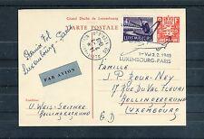Karte ZuF Erstflug Luxemburg-Paris 2.2.1948 - b2433