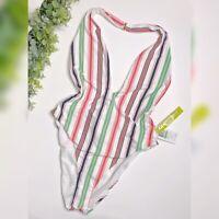 New with Tags Gianni Bini Stripe One Piece Swim Suit- Size L