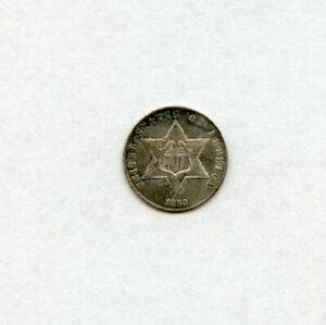 "1859 3cn Three Cent Silver Piece ""TRIME"""