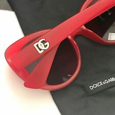 Dolce & Gabbana DG6090 2869/8G Red Gray Gradient Cat-Eye Sunglasses Italy NWT