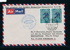 96813) Belgien SABENA FF Brüssel - Brazzaville 8.4.80, Brief ab Liechtenstein