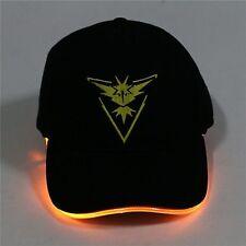 LED Light Pokemon Go Cap Hat  Valor Instinct Mystic Team Hat Baseball Caps