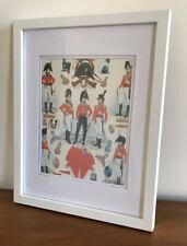 FRAMED AND GLAZED REPRODUCTION PRINT OF NAPOLEONIC MILITARY UNIFORM