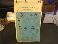 Simplicity 5760 Girl's Bodysuits Pattern - Size 12