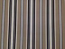 "RICHLOOM KASMIRA DRIFTWOOD BLACK STRIPE OUTDOOR INDOOR FABRIC BY THE YARD 54""W"