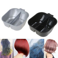 Double Plastic Hairdressing Coloring Dye Dyeing Tint Hair Color Mixing Bowl_AU