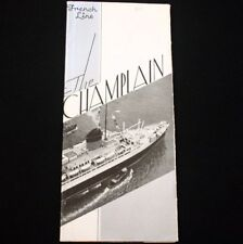 CGT FRENCH LINE SS CHAMPLAIN Photo Brochure 1930s