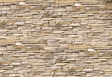Tapete Asia Steine KT239 Größe: 400x280cm  Tapete Deko Steinmauer Mauer DEKO