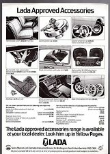 Lada Accessories 1979 UK Market Leaflet Sales Brochure 1200 1300 1500 1600