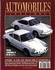 AUTOMOBILES CLASSIQUES n°31 04/1989 PORSCHE 911 CARRERA 4 & RS2.7 ALFA GIULETTA