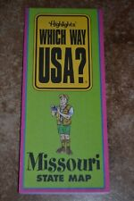 "Highlights Which Way Usa? Missouri State Map ""Vgc"""
