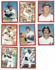 1982 Topps Stickers - NEW YORK YANKEES Team Set - HOF Winfield, Reggie, Goose