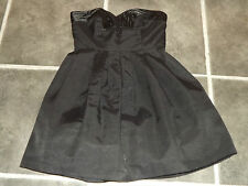 LADIES UK 8 EUR 34 OASIS BLACK STRAPLESS COCKTAIL PARTY DRESS