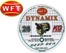 (0,07€/1m) WFT Dynamix Round Deep Sea grün 520m 0,30mm 26kg geflochtene Schnur
