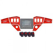 CNC Billet 6 Piece GPS Dash Panel Upgrade Polaris RZR XP1000 Powder Coated Red