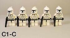 LEGO Star Wars Clone Trooper Minifigures Lot of 5 w/ Blasters sw0201