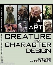 ART OF CREATURE & CHARACTER DESIGN Sandy Collora PAPERBACK FX Book OUT OF PRINT!