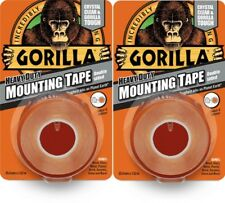 2x Gorilla Glue Heavy Duty Mounting Tape Double Sided Weatherproof Crystal Clear