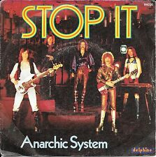 """45 TOURS / 7"""" SINGLE--ANARCHIC SYSTEM--STOP IT / A JOURNEY IN TOBACO--1976"""