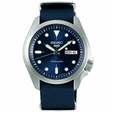 Seiko 5 Sports Automatic Blue Dial Nylon Strap Men's Watch SRPE63K1 RRP £230