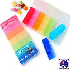 Rainbow 7 Days Medicine Pill Box Health Dispenser Organizer Storage HBCAS7221