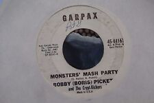 45A RARE BOBBY [BORIS] PICKETT AND THE CRYPT-KICKERS MONSTERS MASH PARTY/MONSTER