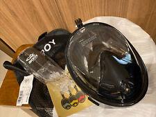 ADEPOY FULL FACE Black Snorkel Mask Size S/M