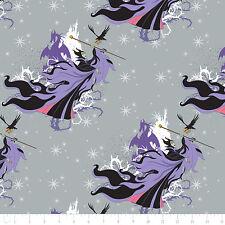 Disney Sleeping Beauty Villain Maleficent Stone 100% Cotton fabric by the yard