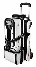 Storm Rolling Thunder Signature 3 Ball Triple Roller Bowling Bag White