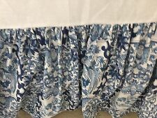 Ralph Lauren Tamarind blue white porcelain bed skirt California KING SIZE